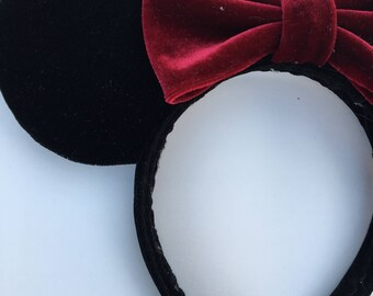 Black velvet Mickey ears