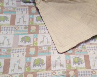 Baby Blanket, Snuggle Flannel, Boy or Girl, With Animals