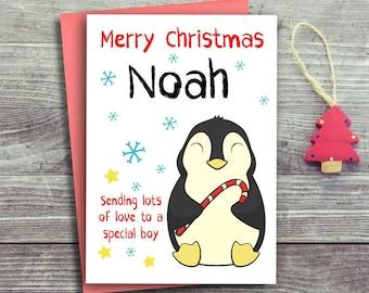 Christmas Card For Boy, Cute Christmas Cards, Baby Christmas Cards, Christmas Card For Child
