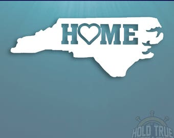 North Carolina Decal - PICK COLOR and SIZE - North Carolina Home Decal - Nc Decal - North Carolina Car Decal - North Carolina sticker