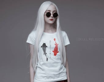 Koi fish T-shirt Japan 流れに逆らって泳いで