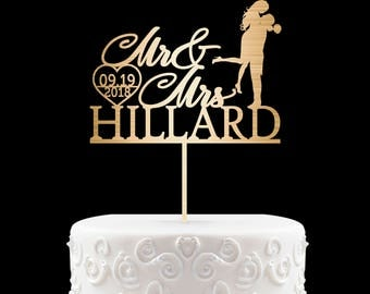 Personalized Cake Topper for Wedding, Custom Personalized Wedding Cake Topper, Customized Wedding Cake Topper, Mr and Mrs Cake Topper 2