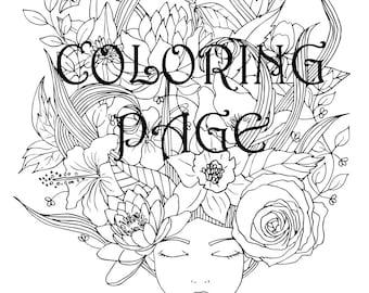 Malvorlagen für Erwachsene, Malvorlagen, Blumen Malvorlagen, Blumen, tun es sich Kunst, Färbung, Printable Malvorlagen, sofort-Download