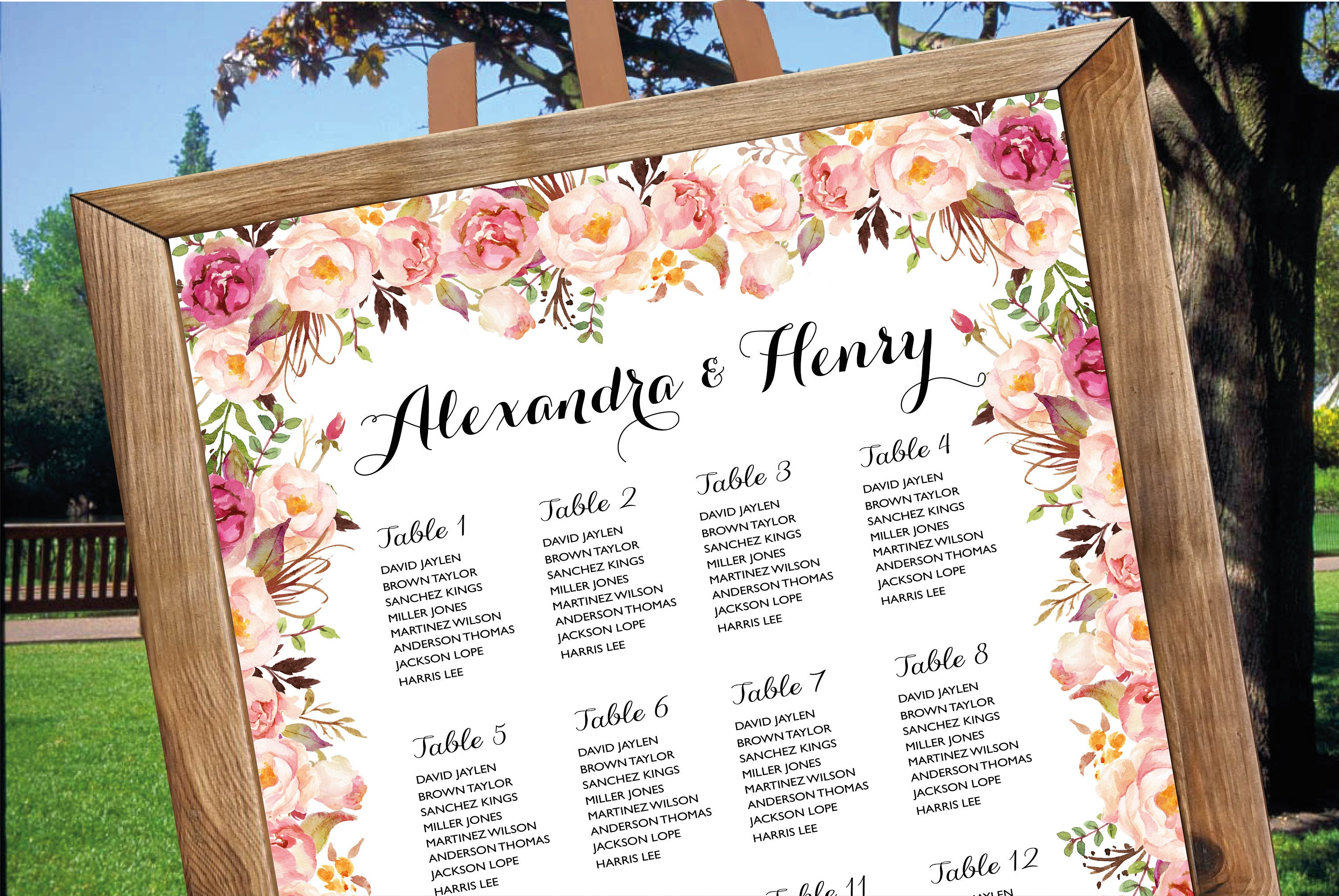 Wedding seating chart poster wedding seating chart wedding card wedding seating chart poster wedding seating chart wedding card wedding table seating junglespirit Image collections