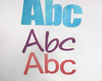Silhouette Wall Letters, In Custom Fonts & Colours 3D Printed