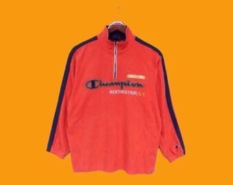 vintage 90s champion fleece jacket champion big logo  champion small logo champion sweater champion windbreaker spellout champion