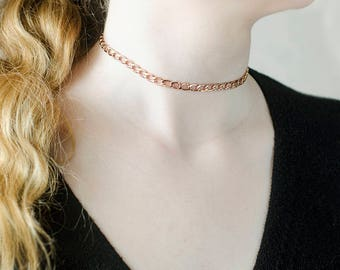 Original Gift|for|Wife Gift|for|Mom Gold Chain Necklace Gold Choker Necklace 18 k Chain Necklaces Delicate Necklace Trending Jewelry|for|Her