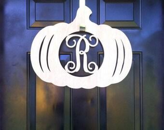 Fall Decor, Fall Door Hanger, Fall Door Decor, Pumpkin Monogram, Door Decoration, Pumpkin Door Decor, Pumpkin Decor, Pumpkin with Letter