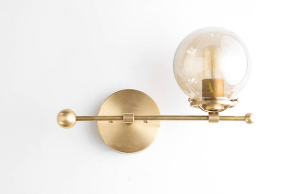 Modern wall sconce brass sconce lights mid century modern like this item mozeypictures Images