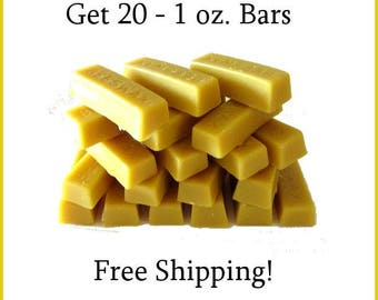 Beeswax natural 1 oz. bars, Free Shipping