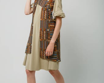 Ethno Vest / Tribal vest /  Boho Vest / Gobelin vest / Waistcoat / Lined Vest / Cotton Vest