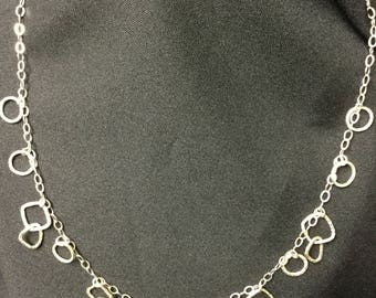 Sterling Silver Free Form Necklace