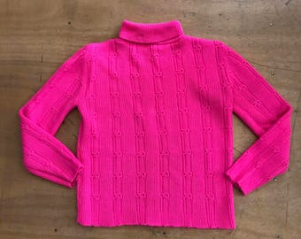 Pink turtleneck | Etsy