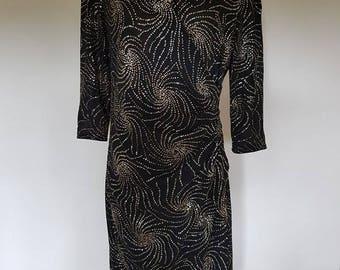 Size 14 80s Party Dress Vintage Retro