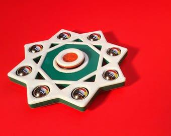 8 Pointed Star Spinner - Octagram - Rub el Hizb - Star of Lakshmi - Double Square Fidget Spinner