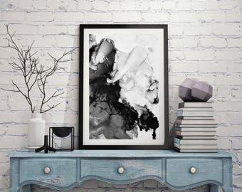 Downloadable prints, Digital prints, Printable art black and white, Printable art painting, wall art, painting, art print