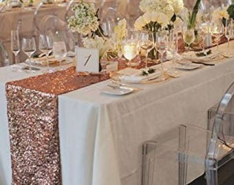 Rose Gold Sequin Table Runner Wedding Table Runner Event Party Supplies Decoration. Princess Birthday Baby Shower