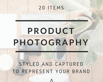 Custom Lifestyle Product Photography for Small Businesses, Makers and Retailers for 20 Products. Perfect for social media and e-commerce.