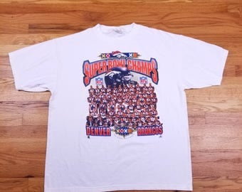 Vintage 90s Denver Broncos Starter Superbowl Champs Players John Elway Size XL