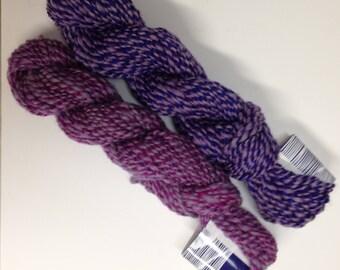 Coordinating handspun yarn, 2 skeins, 130 yards total