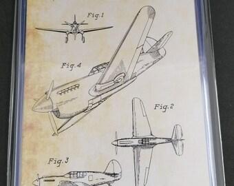 Military Aircraft Patent Art Prints Set