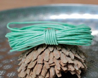 Waxed Cotton Cord, Turquoise