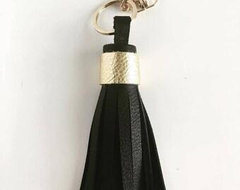 Tassel Keychain- Black