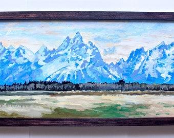 Custom Acrylic Landscape/Scenery Painting 8x16