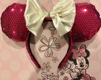 Pink Sequence Mickey Ears