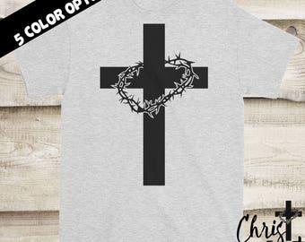 Cross Shirt, Christian Shirts, Religious Gift, Inspirational Gift, Christian Clothing, Religious Shirts, Christian Tees, Christian Gift