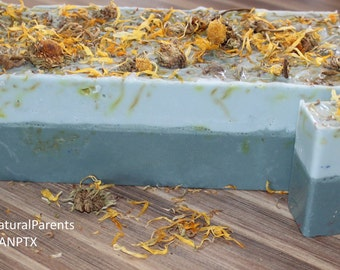 Peppermint Soap With Calendula Flowers
