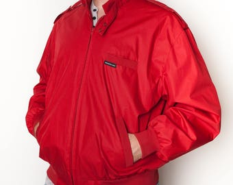 80's Red Members Only Jacket size L