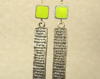 Antique Bronze Earrings Bronze Earrings Bohemian Earrings Gypsy Earrings Olive Green Earrings Dangle Earrings Boho Jewelry Hippie Earrings