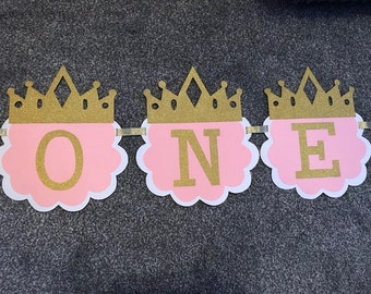 ONE TWO THREE Banner, Age Banner, First Birthday, 1st, Bunting