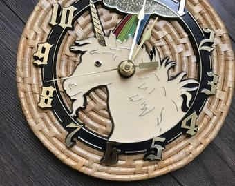 Retro Unicorn Clock | Unicorn Decor | Vintage Clock | Bohemian Decor