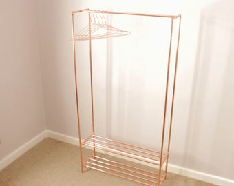 copper pipe clothing hangerrail with shoe rack industrial clothes storage