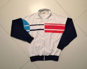 Adidas Tennis Jacket West Germany RARE Vintage 80s - men Size M
