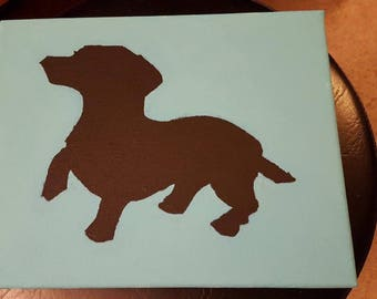 Doxie Silhouette Painting
