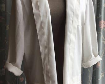 Jacques Vert 1990s white blazer