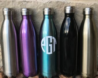 Monogrammed lnsulated bottle