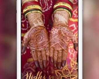 Mehndi Snapchat Geofilter (Mehendi, Henna): Indian Desi Wedding Event   4 Hour Turnaround Time   Custom Options Available   SKU# TLNLMWF02