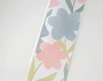 Gorgeous Laminated flower Bookmark with Flower Charm