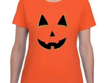 Jack O Lantern Shirt - Halloween Shirt - Women's Halloween Shirt - Holiday Shirt - Pumpkin Shirt