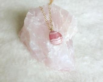 Rhodochrosite Choker, Rhodochrosite Necklace, Rhodochrosite, Gemstone Choker, Gemstone Necklace