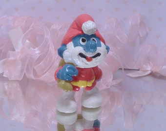 SANTA PAPA SMURF~*The Smurfs*~Vintage Smurf Figure~2.0124~Christmas