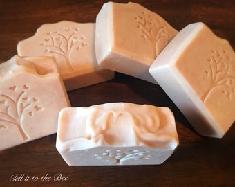 Gentle B. Soap bar handcrafted with 70% Olive Oil, Organic Shea Butter, Oatmeal, Rose Clay  Bath Body Natural handmade Vegan Castille Soaps