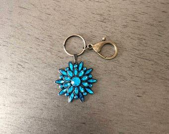 Mandala flower key chain