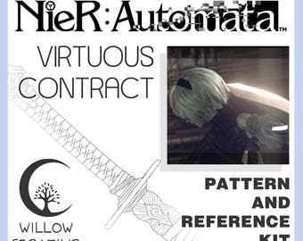 Virtuous Contract/Cruel Oath weapon reference kit - NieR:Automata