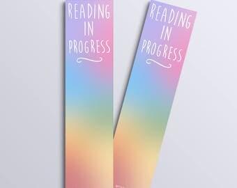 Reading In Progress bookmark