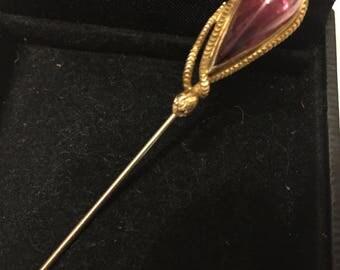 14k Yellow Gold Snake Hat Pin